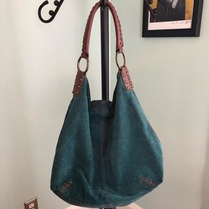 Lucky Brand Suede Hobo in Teal
